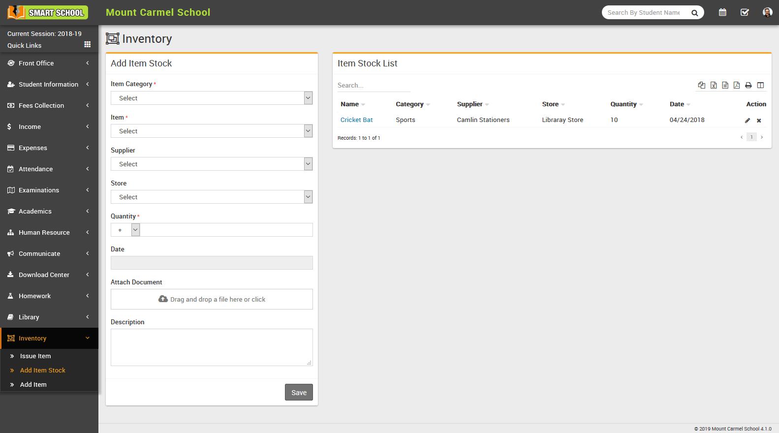 website design & development Inventory