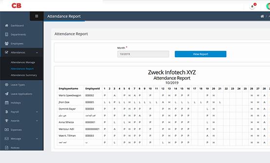 website design & development HR Payroll Software Attendances