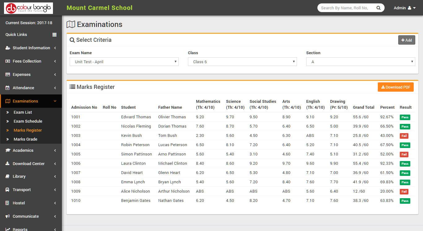 website design & development smart solutions mark register
