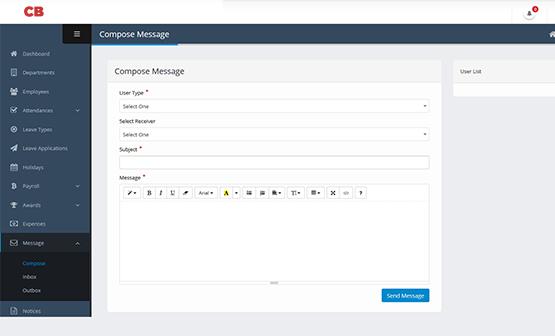 website design & development HR Payroll Software message