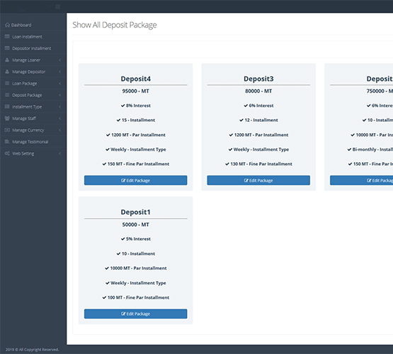 website design & development Multipurpose NGO ADMIN Features